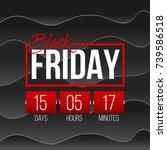 abstract vector black friday...   Shutterstock .eps vector #739586518