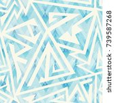 ice color geometric seamless...   Shutterstock .eps vector #739587268