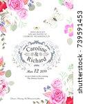 design of wedding invitation | Shutterstock .eps vector #739591453