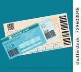 airplane ticket train ticket | Shutterstock .eps vector #739603048