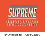 vector of stylized bold font... | Shutterstock .eps vector #739603093