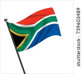 flag of south africa. south...   Shutterstock .eps vector #739603489