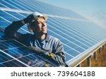 solar power station | Shutterstock . vector #739604188