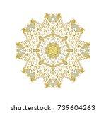 ornamental vector rosette on... | Shutterstock .eps vector #739604263