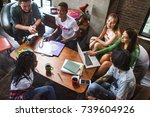 friends studying together   Shutterstock . vector #739604926