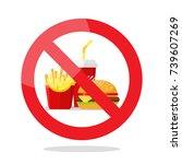no food symbol. vector... | Shutterstock .eps vector #739607269