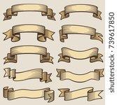 vintage design banner ribbons.... | Shutterstock .eps vector #739617850