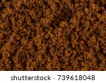 brown muscovado sugar close up... | Shutterstock . vector #739618048