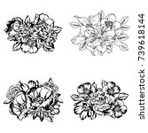 flower set | Shutterstock . vector #739618144