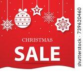 christmas gift  christmas... | Shutterstock .eps vector #739620460
