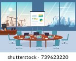 conference room in business... | Shutterstock .eps vector #739623220