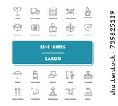 line icons set. cargo pack....