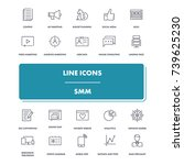 line icons set. smm pack....