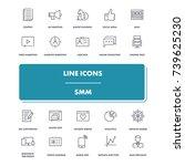 line icons set. smm pack....   Shutterstock .eps vector #739625230