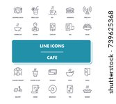 line icons set. cafe pack....