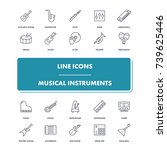 line icons set. musical...