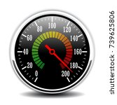 car round speedometer design... | Shutterstock .eps vector #739625806