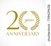 20 years old luxurious logotype.... | Shutterstock .eps vector #739629628
