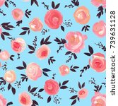 seamless pattern with beautiful ...   Shutterstock . vector #739631128
