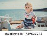 Cute Blond Baby Girl Child...