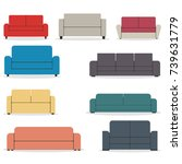 set of pieces of furniture ...   Shutterstock .eps vector #739631779