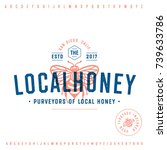 honey company vintage logo... | Shutterstock .eps vector #739633786