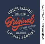 original vintage textured hand... | Shutterstock .eps vector #739633798