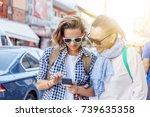 stylish and beautiful mature... | Shutterstock . vector #739635358