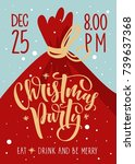 christmas party invitation....   Shutterstock .eps vector #739637368