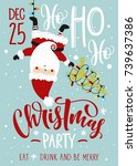 christmas party invitation.... | Shutterstock .eps vector #739637386