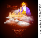 illustration of happy gurpurab  ... | Shutterstock .eps vector #739637950