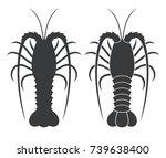 spiny lobster. logo | Shutterstock .eps vector #739638400