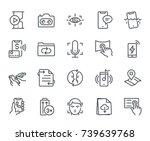 smartphone features icons  ... | Shutterstock .eps vector #739639768