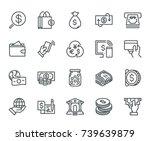 Money Icons  Monoline Concept...