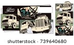 stock illustration. people in... | Shutterstock .eps vector #739640680
