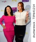 """Small photo of Fran Drescher and Angie Everhart arrives at the taping of """"Jump, Jive & Thrive"""" on Oct. 8, 2017 at UCLA's Pauley Pavilion in Los Angeles, CA."""