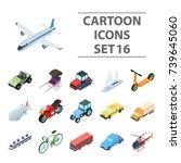 transportation set icons in... | Shutterstock . vector #739645060