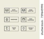 vector set of emblems  badges... | Shutterstock .eps vector #739645990