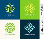 vector set of logo design... | Shutterstock .eps vector #739646860