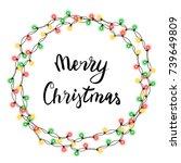 christmas tree string garland...   Shutterstock .eps vector #739649809