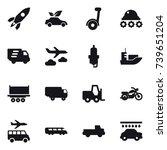 16 vector icon set   rocket ... | Shutterstock .eps vector #739651204