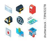 diffrent postal symbols.... | Shutterstock .eps vector #739652278