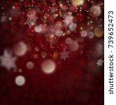 beautiful deep red winter...   Shutterstock .eps vector #739652473