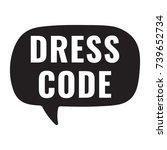 dress code. vector hand drawn... | Shutterstock .eps vector #739652734