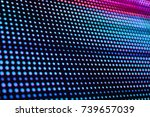 abstract stripe digital monitor | Shutterstock . vector #739657039