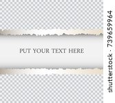 ripped paper template with