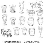 set of different christmas and... | Shutterstock .eps vector #739660948