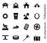 16 vector icon set   barn ... | Shutterstock .eps vector #739665604
