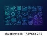 statistics blue concept line... | Shutterstock .eps vector #739666246