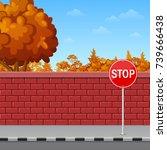 vector illustration of brick...   Shutterstock .eps vector #739666438